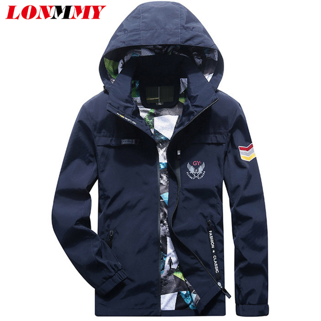 9423883a07e LONMMY Plus size 4XL Bomber jacket men Outerwear Coats Hoodies Casual  jacket military style Army green Hooded 2018 Autumn Spring