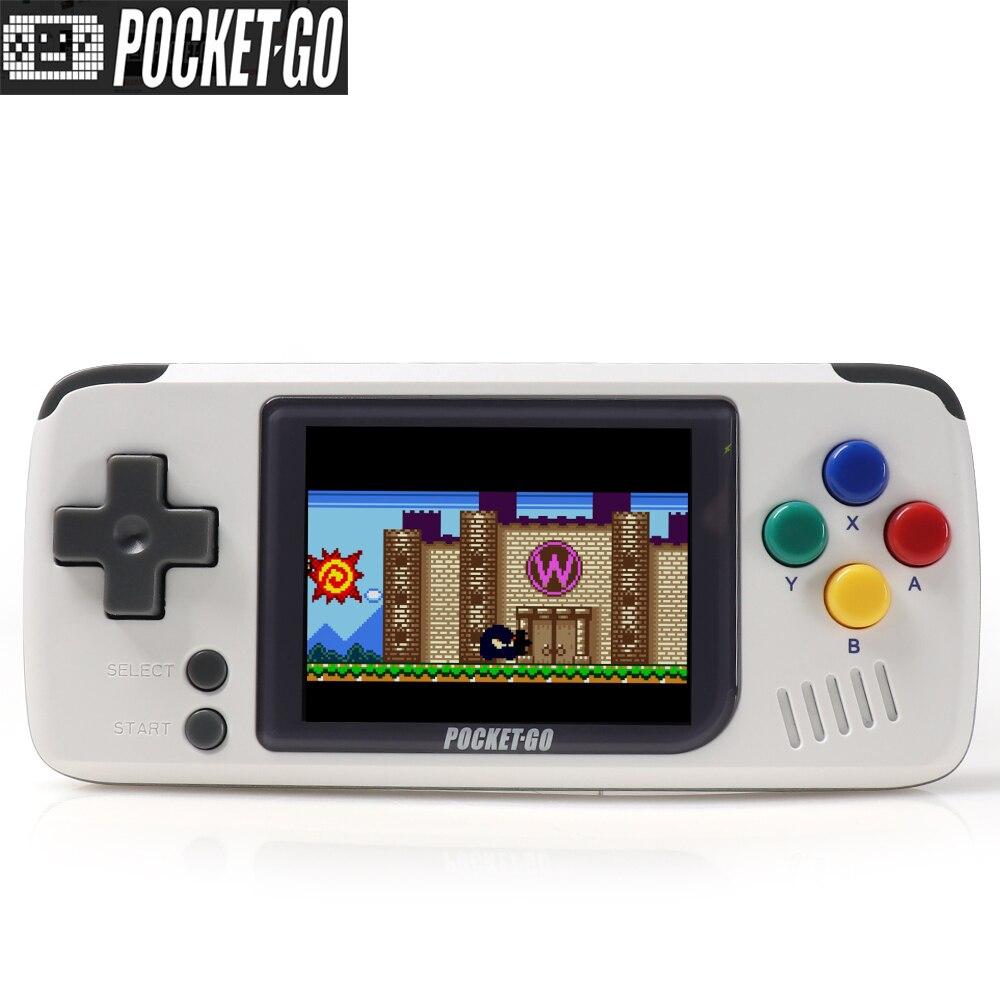 Console de jeu vidéo, PocketGo, console de jeu rétro, poignée de joueurs de jeu. format de poche. Console Open source. - 2