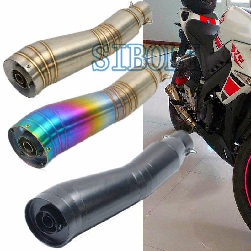 51 MM universel d'échappement Moto silencieux GP tuyau sans lacet avec DB tueur silencieux Moto évasion Moto pour Kawasaki ER6N AK164