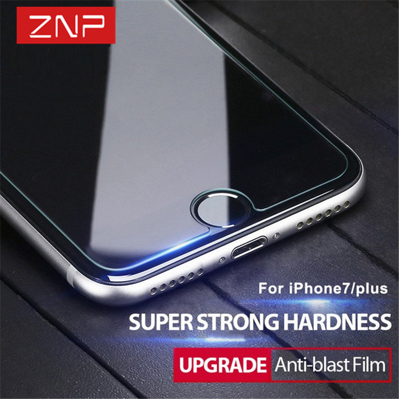 ZNP Tempered Glass For font b iphone b font 7 6 6s 5 5s Plus Hard