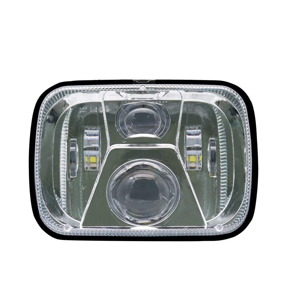 New 110W 5x7 Led Headlights 7x6 Led Sealed Beam Headlamp with High Low Beam H6054 6054 Led Headlight for Jeep Wrangler YJ