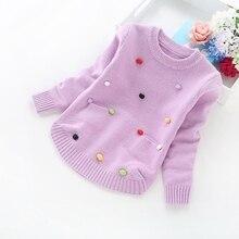 Зимние Детские свитера для девочек 2 6 лет, 8017