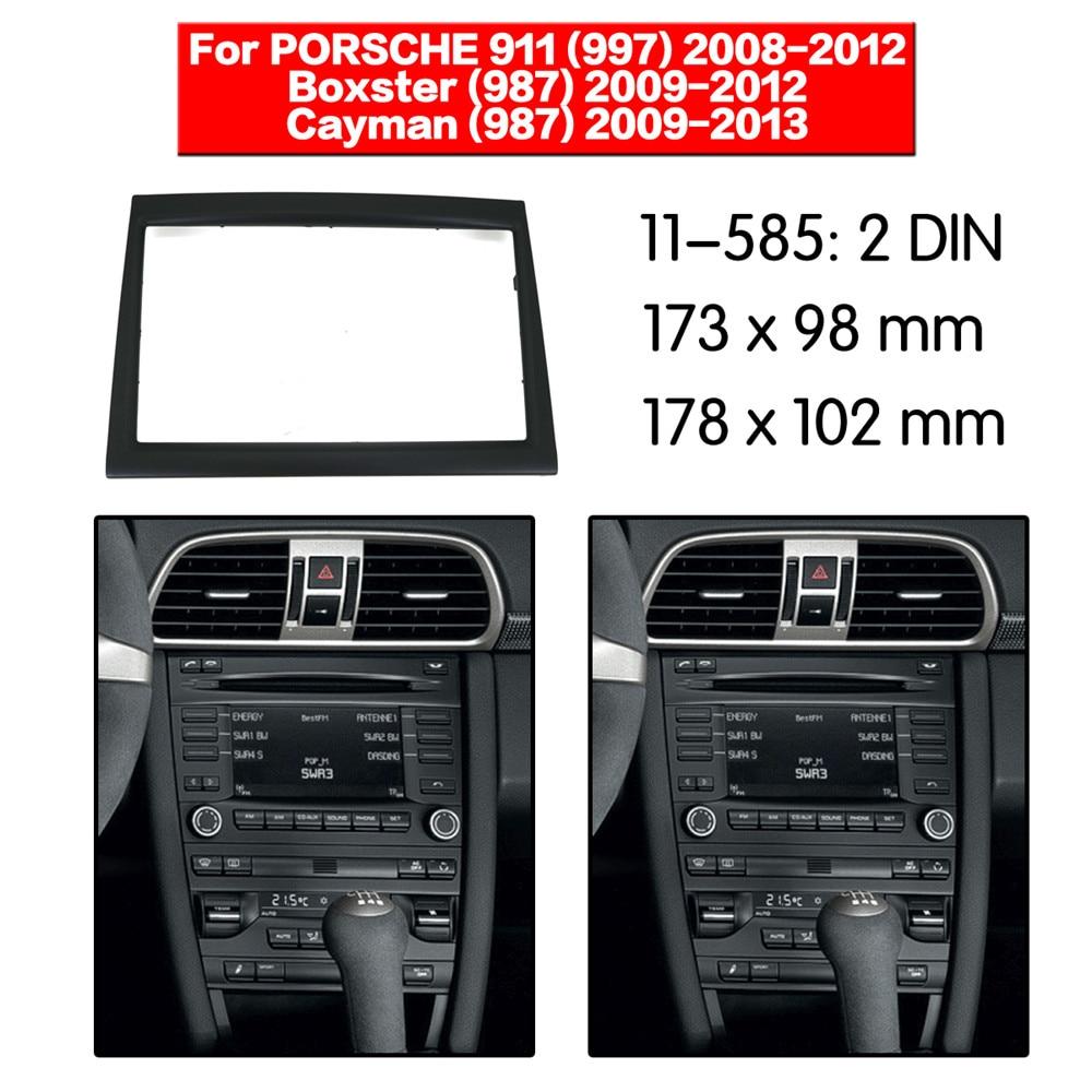 Car Radio Fascia Multimedia Frame Kit For PORSCHE 911,Boxster,Cayman 2008-2012 Audio Bezel Facia Panel Trim Dash 2 Din Mount Kit