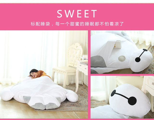 Tatami Cartoon Baymax Single Bed Portable Sleeping Anime Toy Play Mat Futon Mattress