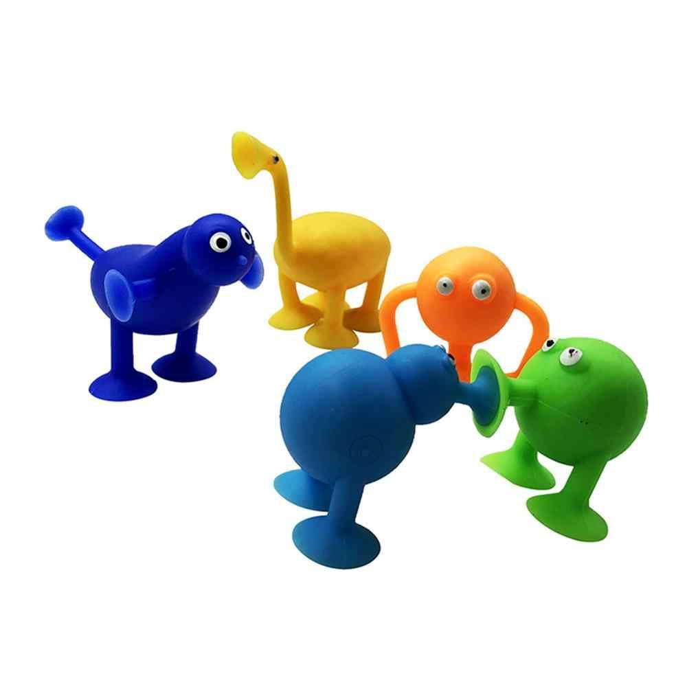 5 sztuk/zestaw Mini przyssawki Sucker Monster lalki kuchnia łazienka Wieszak ścienny zabawki