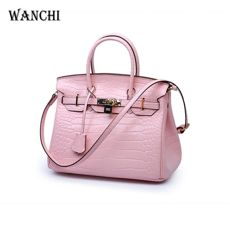 Luxury Handbags Women Bags Designer Purses and Handbags Alligator Classic Cover Lock Paid Genuine Leather Totes High Quality