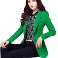 2016 New Design Blazer Feminino Autumn Slim Women Blazers And Jackets Mid Long OL Style Vest Femme Blazer Plus Size 6XL LX94