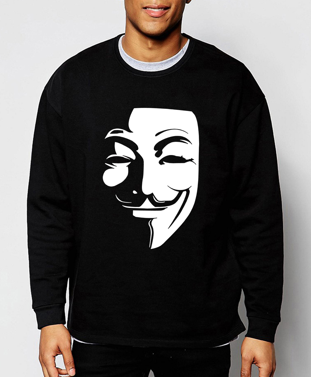 V Wie Vendetta Guy Fawkes hoodies männer 2017 heißer verkauf frühling winter fashion männer sweatshirt hip hop trainingsanzug marke clothing S-2XL