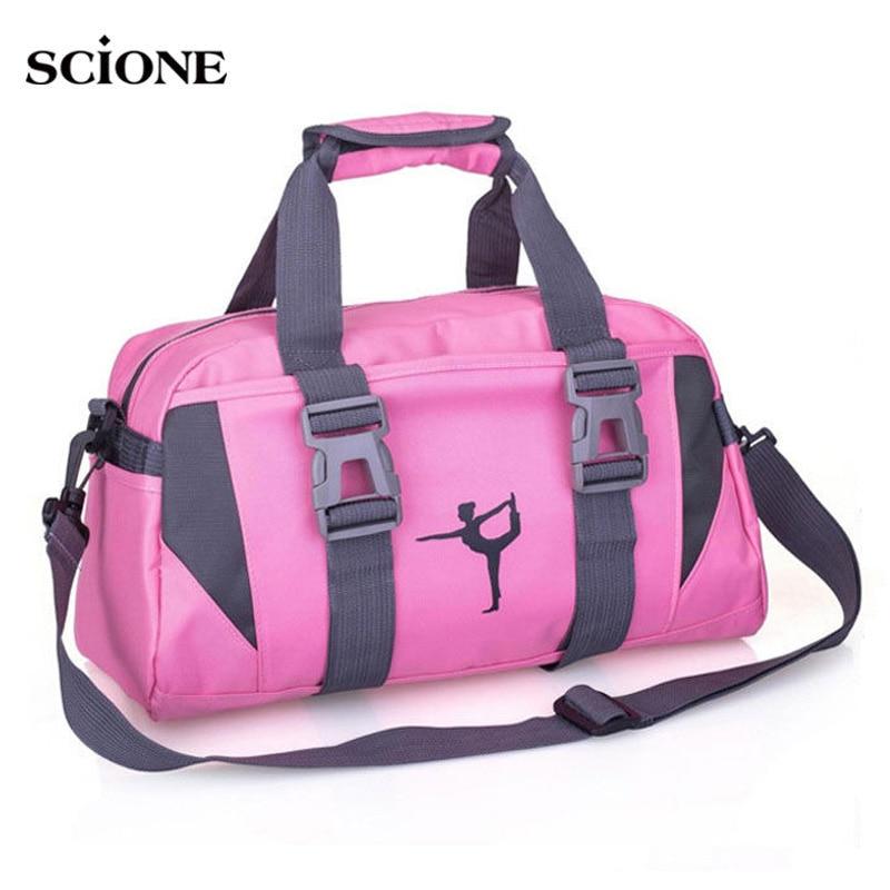 Йога Фитнес сумка Водонепроницаемый нейлон обучение через плечо спортивная сумка для Для женщин Фитнес путешествия вещевой одежда Сумки для зала xa55wa