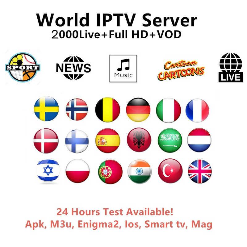 IPTV M3u Subscription Iptv Italy UK German French Spanish Mediaset Premium  For Android Box Enigma2 Smart TV PC Linux