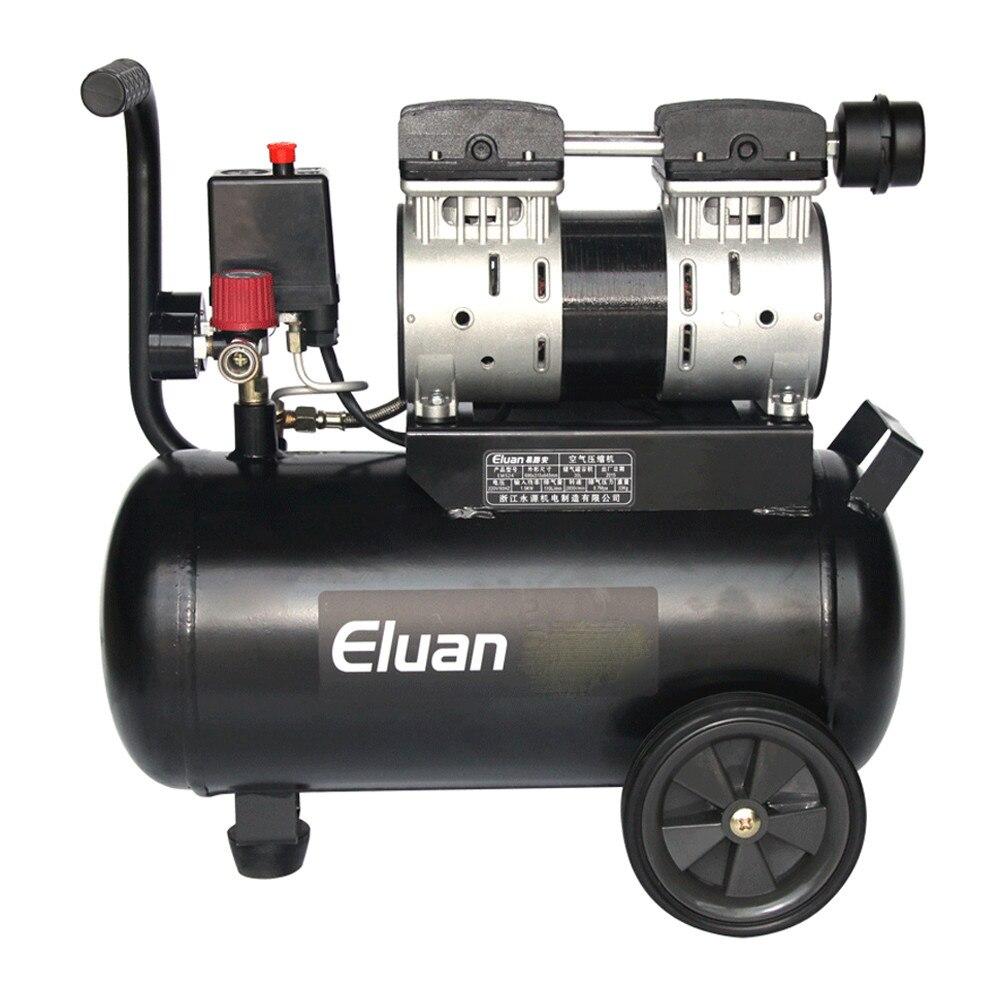220v 50hz 680w 55l oil free silent air compressor pump for Air compressor for auto painting
