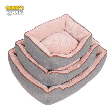 CANDY KENNEL Cotton Linen Kernels de maíz Soft Pet Dog Cat Bed para Small Medium Bed Cojín de la casa con extraíble Pet Mat Nest D1129