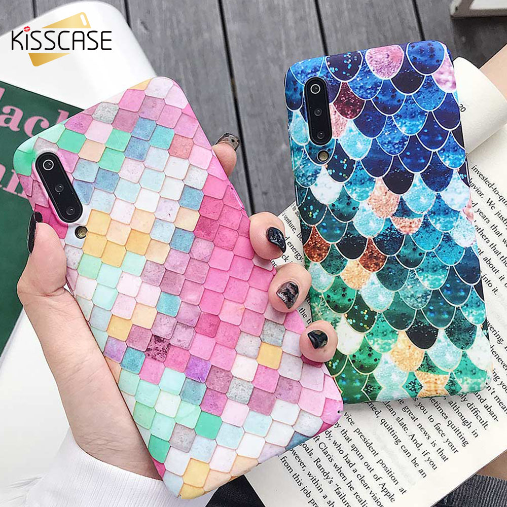 KISSCASE Girly Luminous <font><b>Case</b></font> For Xiaomi <font><b>mi</b></font> 8 <font><b>mi</b></font> 9 <font><b>8SE</b></font> 9SE <font><b>Case</b></font> 3D Colorful Cover Luminous <font><b>Case</b></font> For Redmi Note 7 4X note 6 Pro image