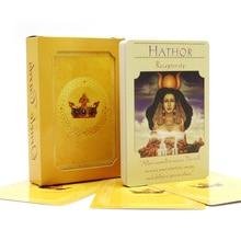 フル英語の女神オラクルカードデッキ44カード、家族向けのEブック付きタロットカード案内ボードゲーム