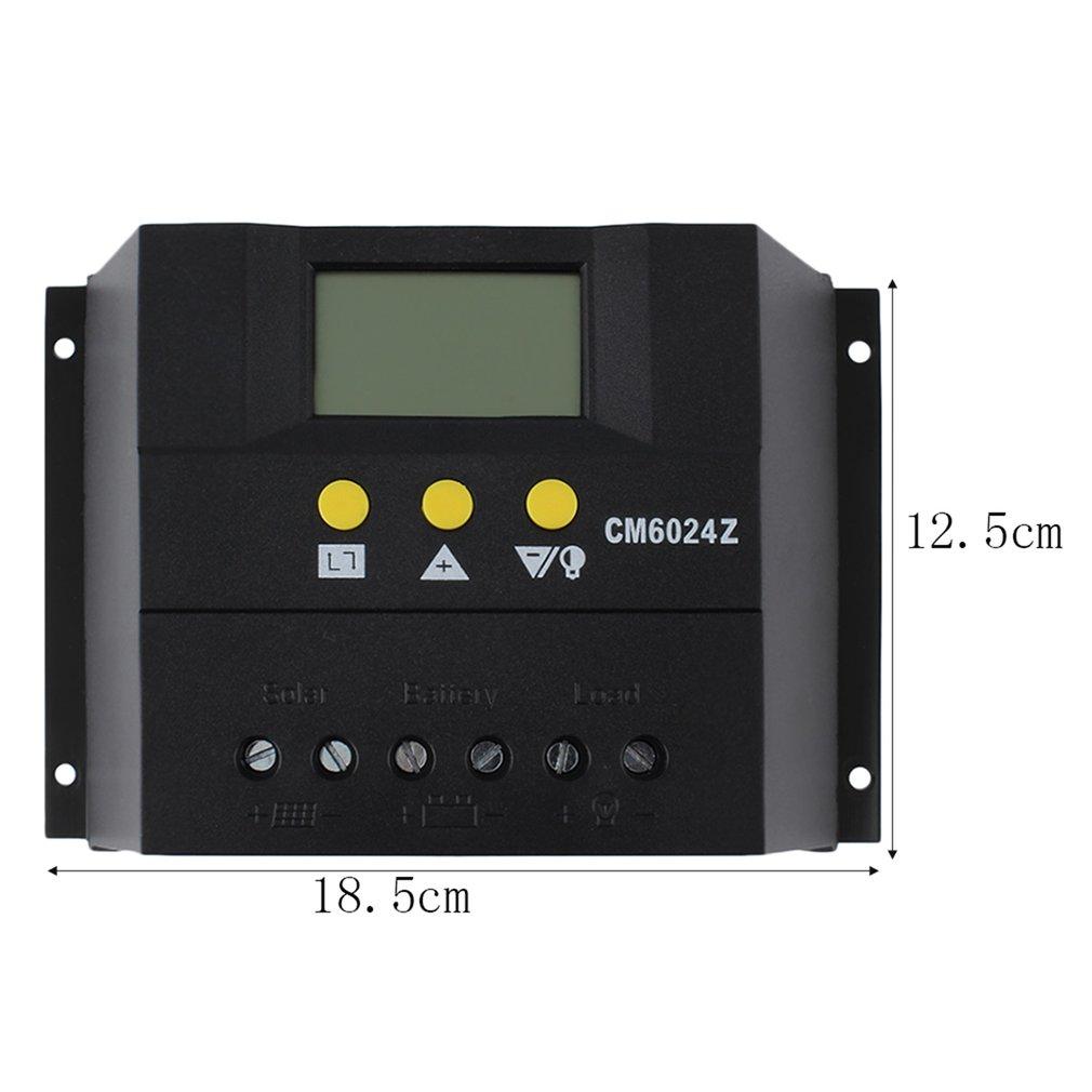цена на Intelligent PWM charge mode PY6024Z 60A 12-24V Solar Regulator Solar Charge Controller LCD Solar Genetator Voltage Control