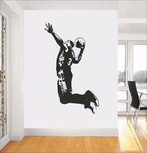 Atlet dunk basket olahraga vinyl wall decals home decor anak kamar art wallpaper removable(China)