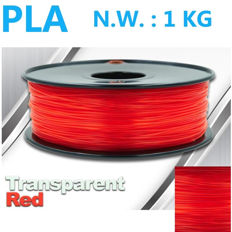 Transparante rode 3d pen pla 3d printer gloeidraad VS natuurlijke - Office-elektronica