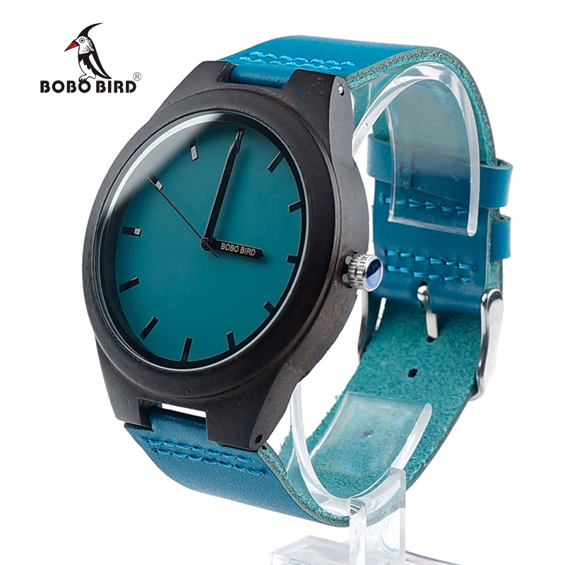 BOBO BIRD Nature Wooden Watch Ebony New Brand Luxury Men s Japan Quartz Saat Erkekler in