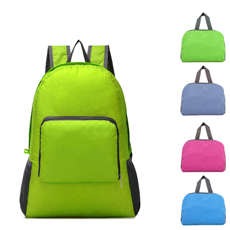 Fashion Portable Travel Storage Bag Backpacks Zipper Soild Nylon Back Pack Daily Traveling Women Men Shoulder Bags Folding Bag