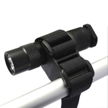 Flashlight Holder for Bicycle Handbar Scope Mount LED Torch Flashlight Bracket Mount Base Zero Degree Clip with Adhesive Strap