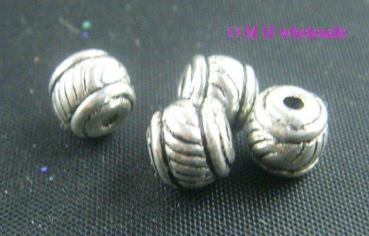 OMH Wholesale Free Ship 35pcs Tibetan Silver Spacer Beads Jewelry Metal Beads 5X5mm ZL162