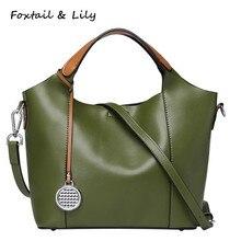 Foxtail & Lily Spring New Genuine Leather Messenger Bag Luxury Handbags Designer Women Composite Bag Shoulder Crossbody Bags foxtail page 5