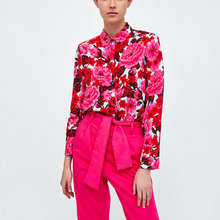 spring summer floral print women shirt long sleeve turn down collar chic streetwear ladies blouse shirts casual female blusas girls plaid blouse 2019 spring autumn turn down collar teenager shirts cotton shirts casual clothes child kids long sleeve 4 13t