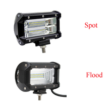 5 inch 72W Motorcycle Car Fog Lamp Work Light Flood Spot Bar for Boats ATV UTV SUV 4WD Truck Offroad Vehicle
