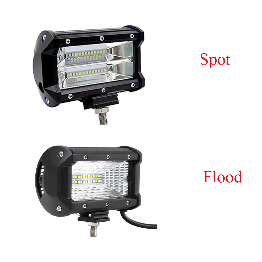 5 inch 72W Motorcycle Car Fog Lamp Work Light Flood Spot Light Bar for Boats ATV UTV SUV 4WD Truck Offroad Vehicle