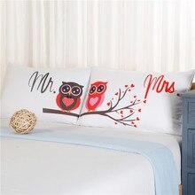 Мистер и Миссис Сова Полиэстер Хлопок Кровать Наволочки Установить 2 Шт. Соответствующий Конверт Наволочки для Пары Подарок