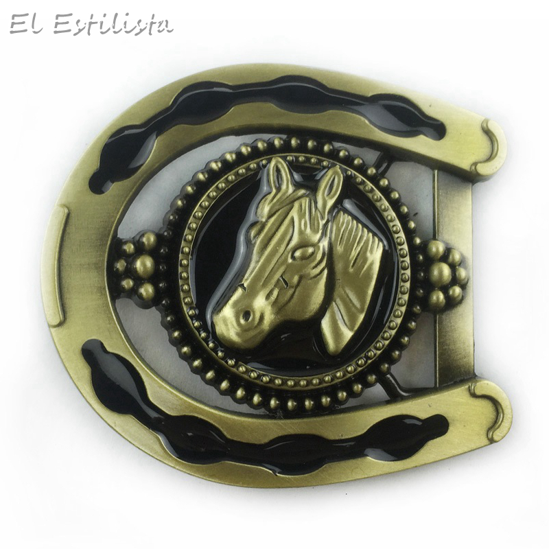 Vintage Bronze 3d Horseshoe Belt Buckle Horse Head Metal Buckles Fit 3.8cm 4cm Belts Cowboy Fivela Belts Accessories Mens Gift Products Are Sold Without Limitations Arts,crafts & Sewing