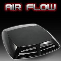 Silver White Black Carbon Fiber Universal Car Decorative Air Flow Intake Scoop Turbo Bonnet Vent Cover