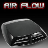 Silver White Black Carbon Fiber Universal Car Decorative Air Flow Intake Scoop Turbo Bonnet Vent Cover