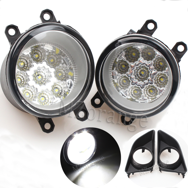 2 pieces Fog Lamp Assembly Super Bright Fog Light For TOYOTA AVENSIS AURIS RAV 4 III CAMRY Corolla PRIUS YARIS 2003-2015 Led 18 smd led license plate light bulb for toyota camry xv40 yaris xp10 echo prius nhw11 previa ipsum avensis verso