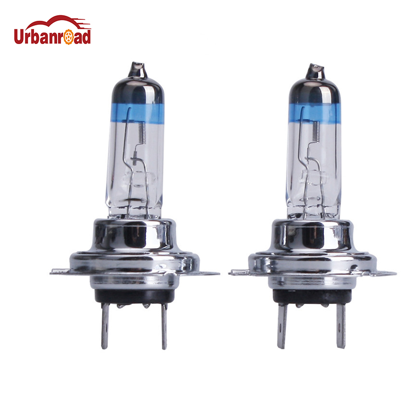Urbanroad 2PCS H7 55W 12V Halogen Bulb Halogen Fog Lights Super White High Power Car Headlight Lamp Car Light Source Auto free shipping 2016 high quality kobo h7 halogen bulb super white car headlight bulb 12 v 55w 5500k price for pair auto access
