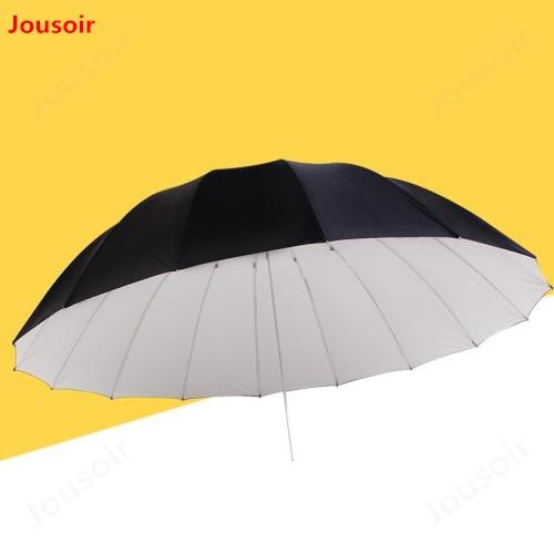 70inch (180cm) Parabolic Umbrella Professional White with Black Umbrella Reflector for Strobe Speedlight CD15