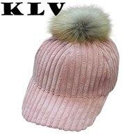 KLV New Bone Masculino Corduroy Snapback Baseball Caps Women Men Unisex Baseball Snapback Hats Faux Fur