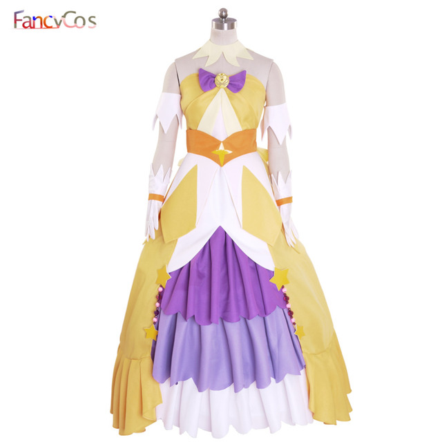 Halloween Women s Go! Princess PreCure Cure Twinkle Party Dress Costume  Cosplay adult costume movie High Quality Deluxe e79682cc19f2