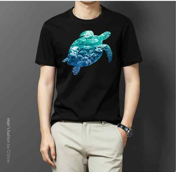 2019 New funny tee cute t shirts sea turtle men women 100% cotton cool tshirt lovely cute summer jersey costume t-shirt