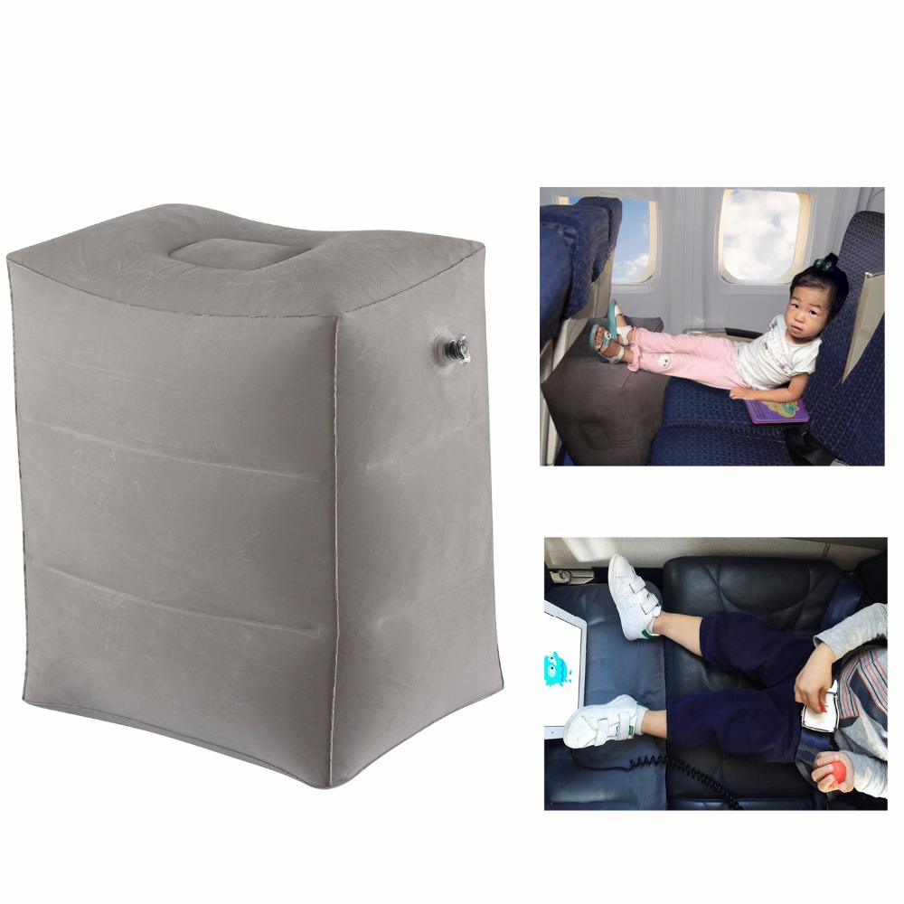Kids Sleeping Pillow On Airplane Bus Car Leg Resting Inflatable Travel Foot Rest Pillow Pvc
