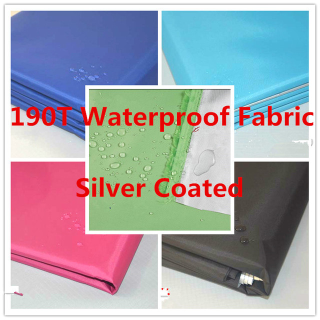 190T Polyester Shiny Taffeta Waterproof Fabric Outdoor Upholstery Durable Waterproof  Furniture Fabric Silver Coated 2 Yard - 190T Polyester Shiny Taffeta Waterproof Fabric Outdoor Upholstery