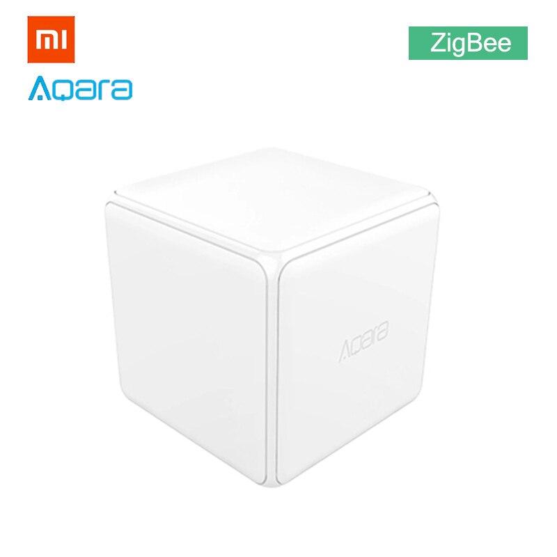 Xiao mi Aqara mi cubo mágico controlador Zigbee versión de actualización Gateway Smart Home mi jia dispositivo inalámbrico mi hogar APP Control