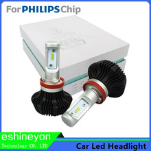 Car LED Headlight Kit H1 H3 H4 H7 H9 H11 9005 9006 HB4 9007 H13 High/Low Beam Bulbs For Philips-ZES Chips Replace Light Source