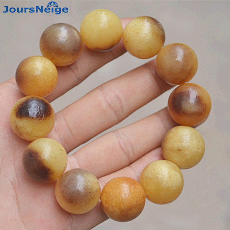 Wholesale Fine Natural Camel Bone Bracelets 20mm Round Bead Bracelets Health for Women Men Rosary Tibetan Style Bracelet cool skull style ox bone bracelets 2 pack