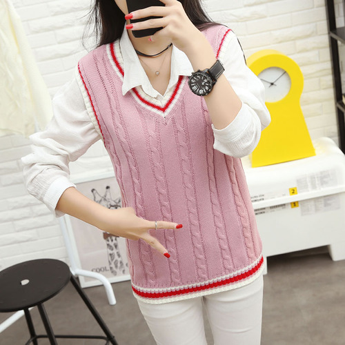 Autumn 2019 Women Korean Preppy Style Vintage Striped V Neck - Women's Clothing - Photo 4