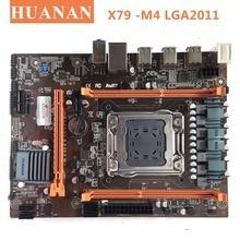 HUANAN X79-M4 LGA 2011 DDR3 настольных ПК Материнские платы компьютер Материнские платы подходит для сервера ECC REG Оперативная память