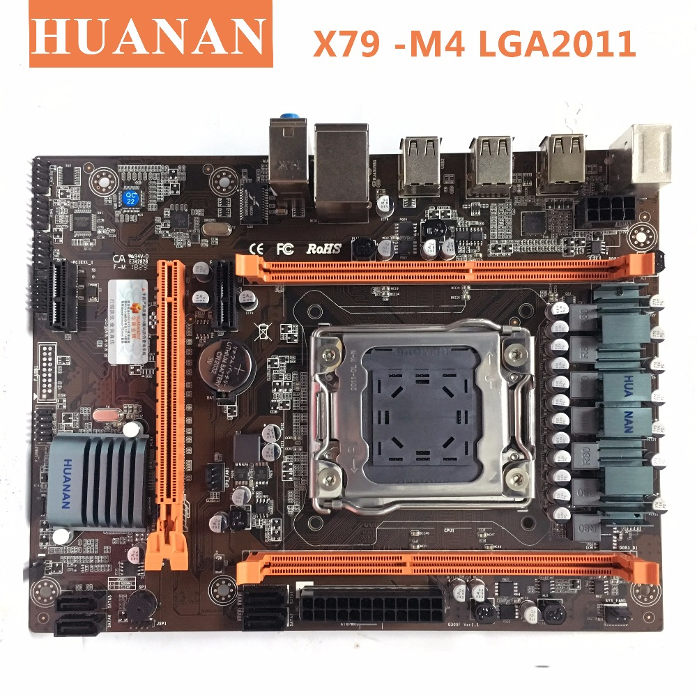 HUANAN X79-M4 LGA 2011 DDR3 PC placas de escritorio ordenador placas base conveniente para servidor ECC REG RAM