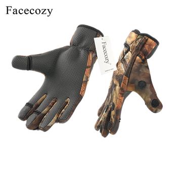 Facecozy Outdoor zimowe rękawice wędkarskie wodoodporne trzy lub dwa palce Cut antypoślizgowe rękawice wspinaczkowe piesze wycieczki rękawice do jazdy i na kemping tanie i dobre opinie Trzy Wyciąć Palec Anti-slip Waterproof Dropshipping and Wholesale