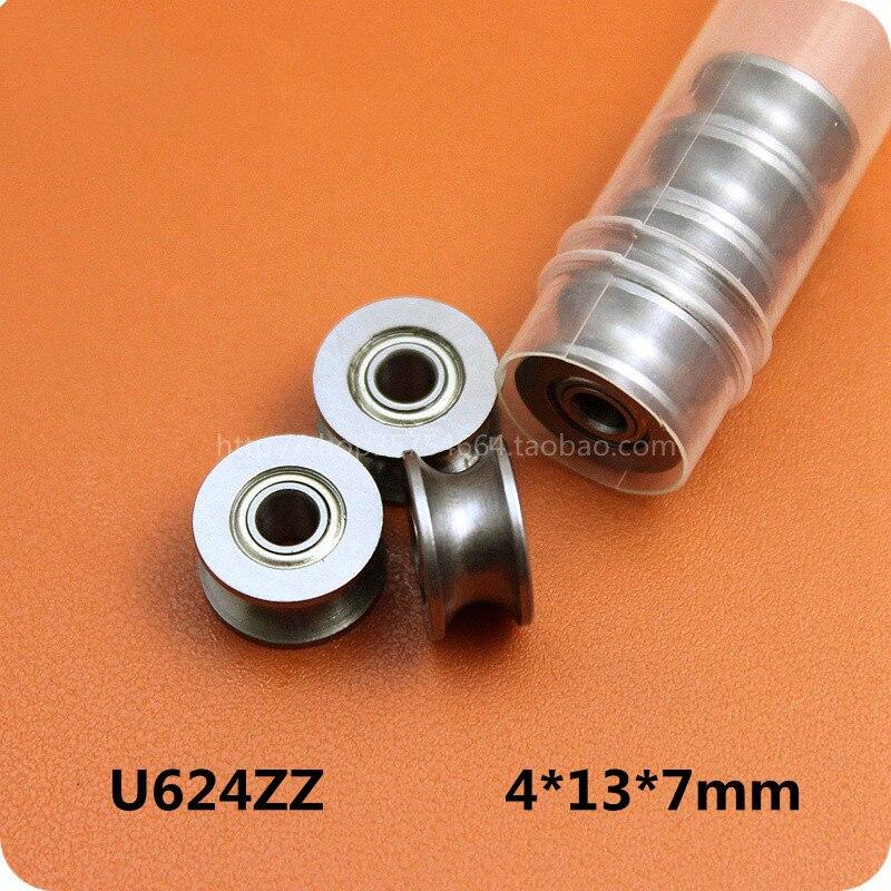 Направляющий ролик HCS 624UU U, направляющий ролик, шариковые подшипники, роликовые колеса 4 мм * 13 мм * 7 мм, 10 шт.|roll roll|rolling wheelrolling ball bearing | АлиЭкспресс