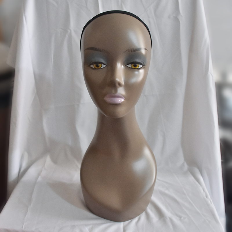 Europe and America Black Female Mannequin Head 47cm Manikin Model Head For Wig Hair Hat Jewellery Display Stand Model HeadEurope and America Black Female Mannequin Head 47cm Manikin Model Head For Wig Hair Hat Jewellery Display Stand Model Head